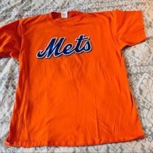 NY Mets Team Orange T Shirt size XXL